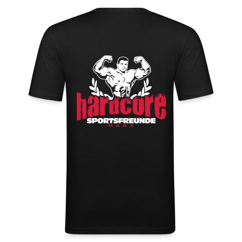 Sportsfreunde Harz pumping iron - Männer Slim Fit T-Shirt