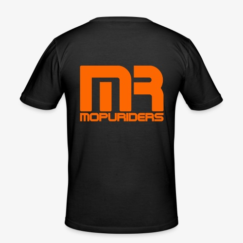 Mopriders Orange - Männer Slim Fit T-Shirt