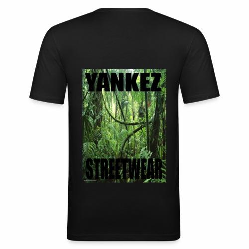 Yankez Backprint Jungle - Männer Slim Fit T-Shirt