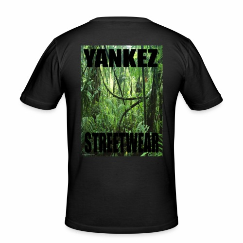 Yankez Backprint Jungle - Männer Slim Fit T-Shirt