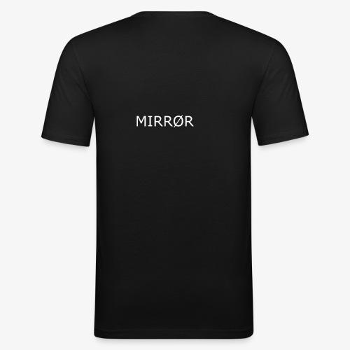 Mirror/Black - Männer Slim Fit T-Shirt