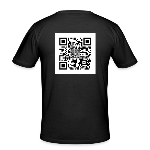 QR Code Want a free belly - slim fit T-shirt