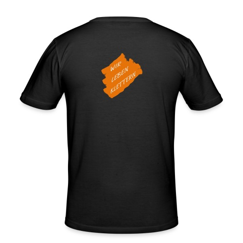 rocks leben hinten - Männer Slim Fit T-Shirt