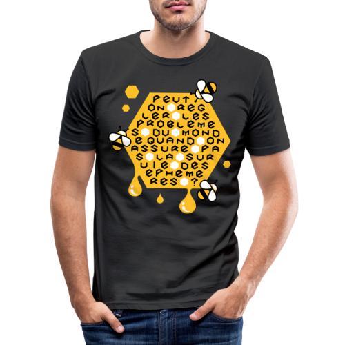Sauver les abeilles - T-shirt près du corps Homme