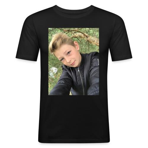 T-shirt - Slim Fit T-shirt herr