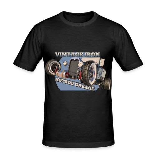 hot rod garage | vintage iron - Männer Slim Fit T-Shirt