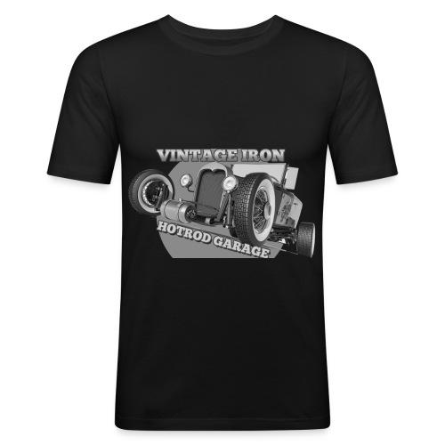 hotrod vintage grau - Männer Slim Fit T-Shirt