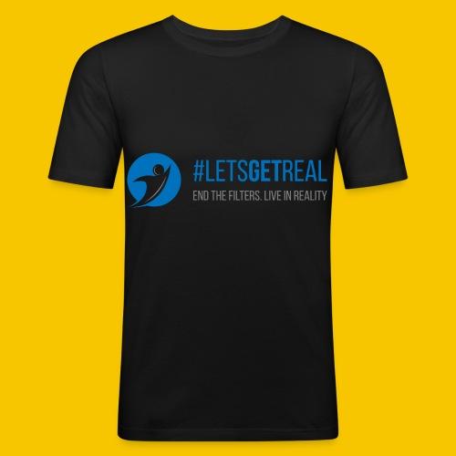 LetsGetReal Logo - Men's Slim Fit T-Shirt