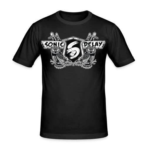 SOnic Delay Logo 2017 - Männer Slim Fit T-Shirt