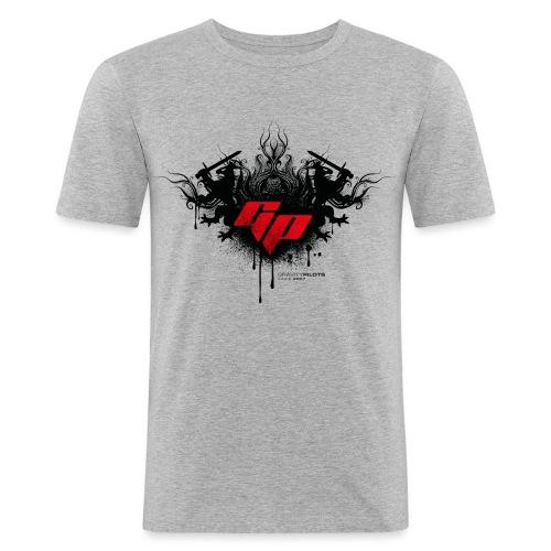 RZ_GP_Ornament_rot - Männer Slim Fit T-Shirt