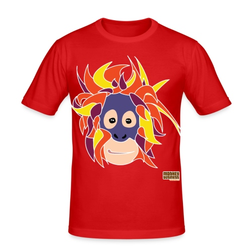 Oppermonkey Illustratie - Mannen slim fit T-shirt