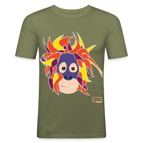 Oppermonkey Illustratie - Mannen slim fit T-shirt
