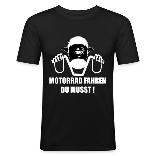 YODA | MOTORRAD FAHREN DU MUSST | fun | lustig | - Männer Slim Fit T-Shirt