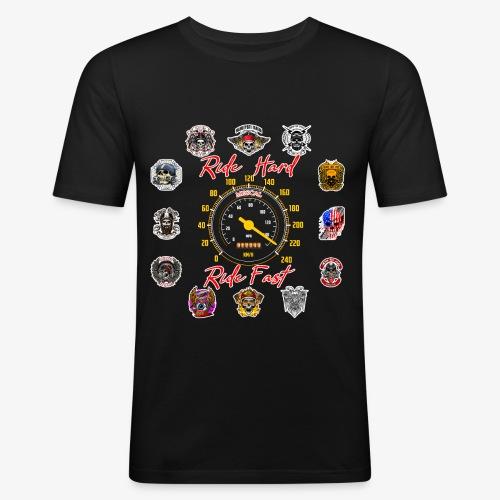 Ride Hard Ride Fast - Collezione 3 - Maglietta aderente da uomo