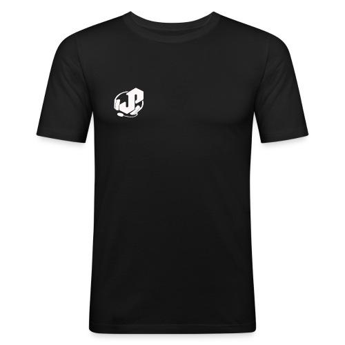 logo white for apparel png - Men's Slim Fit T-Shirt
