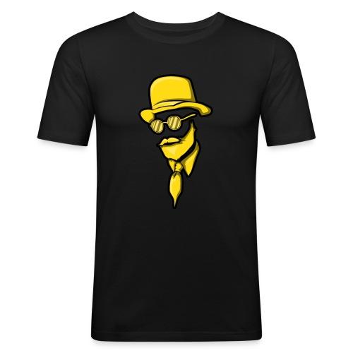 Man Mann Mit Bart Bärtiger Bartträger Hut Elegant - Männer Slim Fit T-Shirt