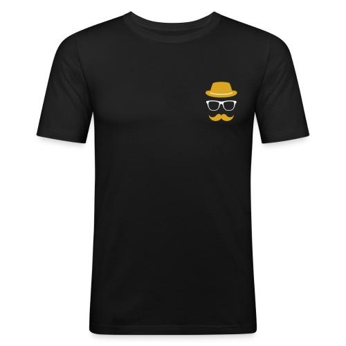 Mann Bart Logo - Männer Slim Fit T-Shirt