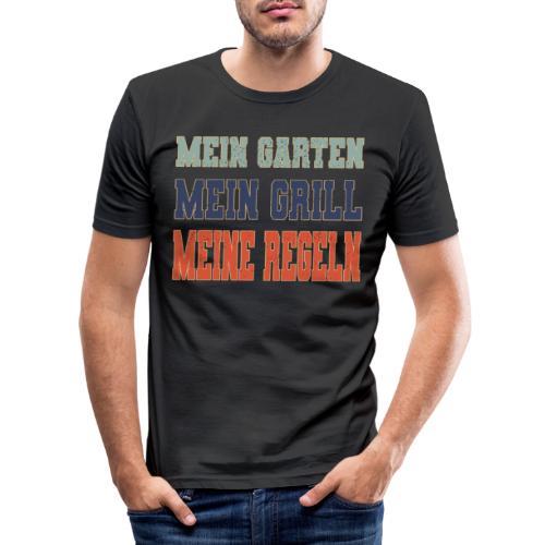Mein Garten Mein Grill Meine Regeln Garten und BBQ - Männer Slim Fit T-Shirt