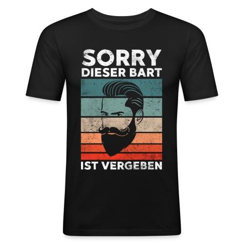 Sorry dieser Bart ist vergeben Geschenk - Männer Slim Fit T-Shirt