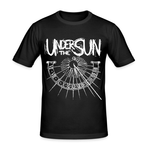 Sundial White on Black png - Men's Slim Fit T-Shirt