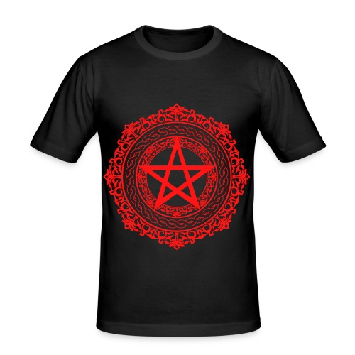 pentagramred gif - Men's Slim Fit T-Shirt