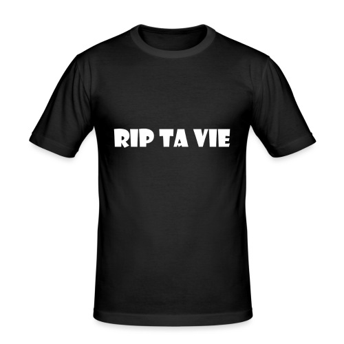 test rip ta vie blanc - T-shirt près du corps Homme