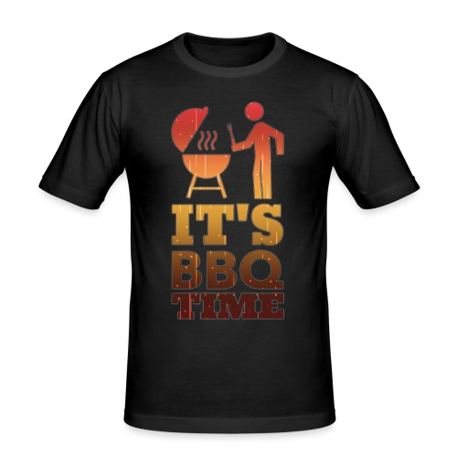 It's BBQ Time - Mannen slim fit T-shirt