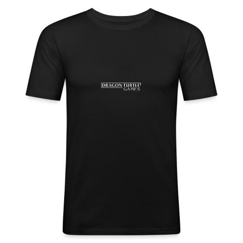 Dragon Turtle Games Logo White - Men's Slim Fit T-Shirt