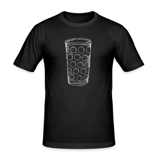 Dubbeglas un kä Blumevase - Männer Slim Fit T-Shirt