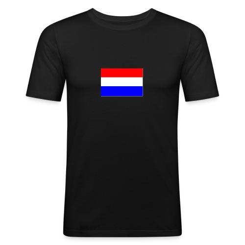 vlag nl - Mannen slim fit T-shirt