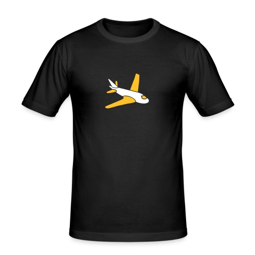 airplanes jet sky freedom aircraft flying glider - Männer Slim Fit T-Shirt