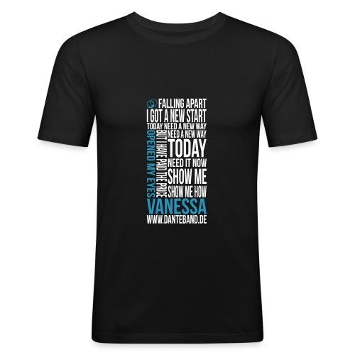 t-shirt vanessa outline - Männer Slim Fit T-Shirt