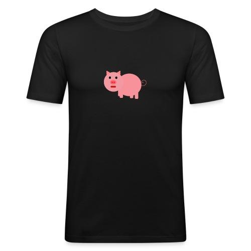 Pig Mad - Men's Slim Fit T-Shirt