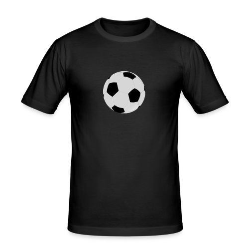 voetbal mok - Mannen slim fit T-shirt