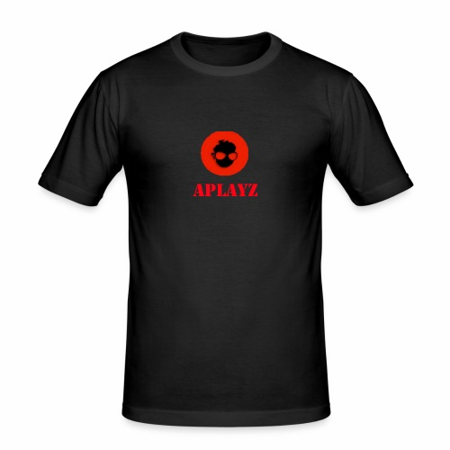 APlayzMG logo with text - Men's Slim Fit T-Shirt