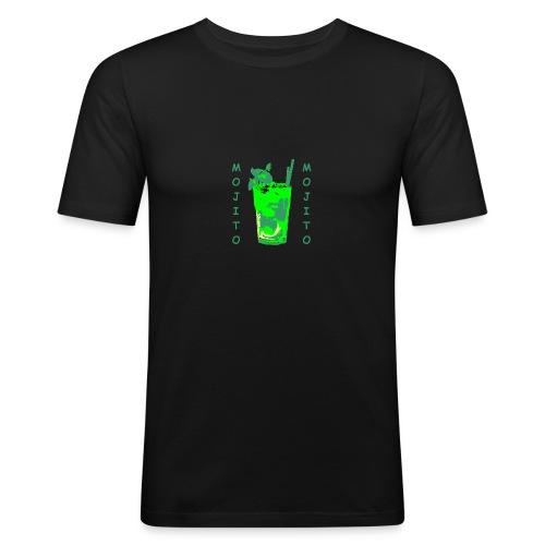 Mojito bicchiere colorato - Maglietta aderente da uomo