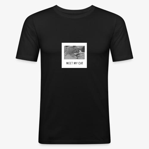 Meet My Cat - Miesten tyköistuva t-paita