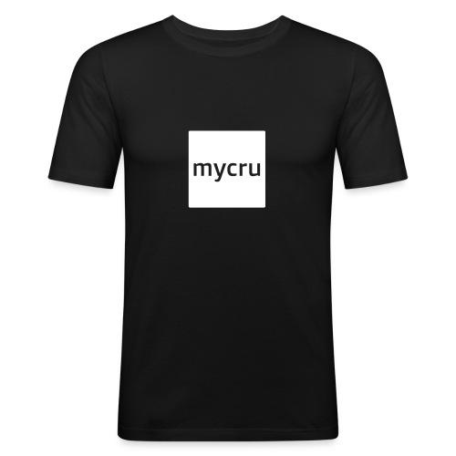 mycru logo - Men's Slim Fit T-Shirt