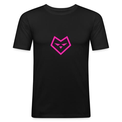 roze logo udc - Mannen slim fit T-shirt