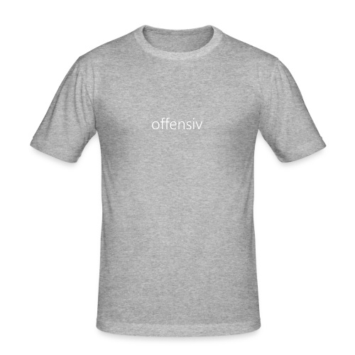 offensiv t-shirt (børn) - Herre Slim Fit T-Shirt