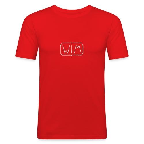 WIM white - Mannen slim fit T-shirt
