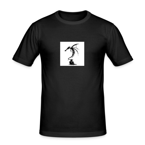 Ink-Dragon-T-shirt-Design-by-alnavasord-design-585 - Slim Fit T-shirt herr
