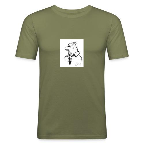InkedThe Dog style bak LI - Camiseta ajustada hombre