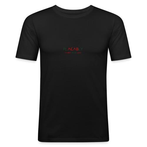 PLACABLY - modern street wear - Männer Slim Fit T-Shirt