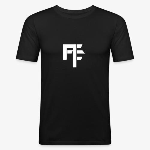 Petit Logo Teamfitfrance Blanc - T-shirt près du corps Homme