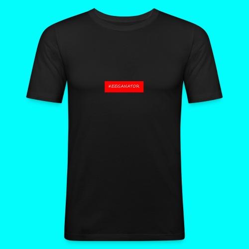 KEEGANATOR BOX LOGO - Men's Slim Fit T-Shirt