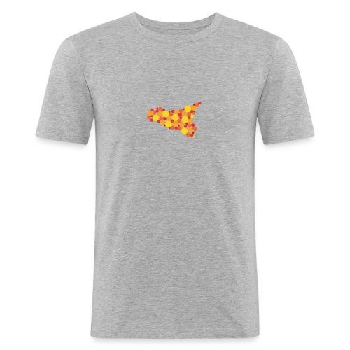 logo sicilia piccolo - Maglietta aderente da uomo
