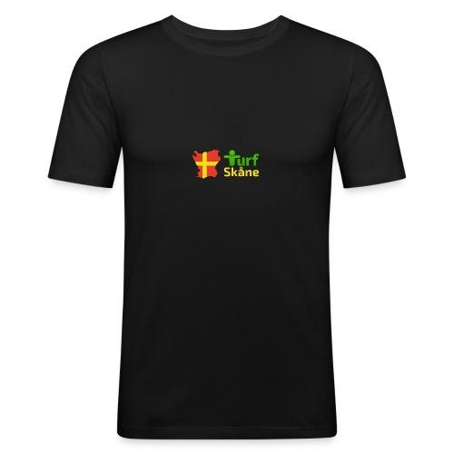Turf Skåne Logo gul - Slim Fit T-shirt herr