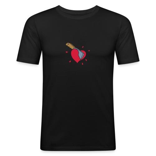 Broken Hearts Love Hate Axe Knife Messer Axt Kill - Männer Slim Fit T-Shirt