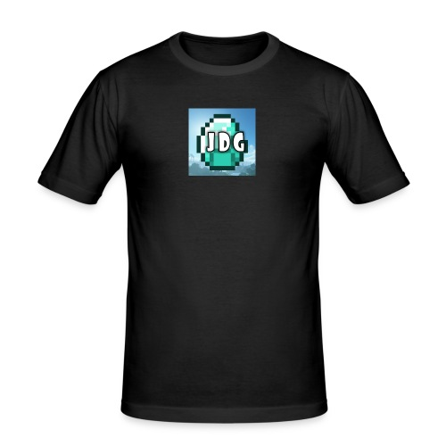 Oranje T-shirt met logo JoramDijkGames - Mannen slim fit T-shirt
